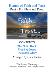 Gary Lanier: Hymns of Faith and Trust (Duets for Flute & Piano) Sheet Music by WILLIAM B. BRADBURY