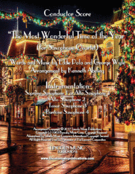 The Most Wonderful Time of the Year (for Saxophone Quartet SATB or AATB) Sheet Music by George Wyle & Eddie Pola