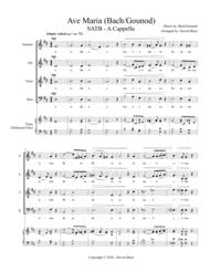 Ave Maria - Bach/Gounod (SATB - A Cappella) Sheet Music by Bach/Gounod
