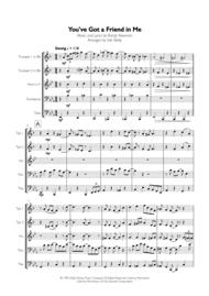 You've Got A Friend In Me for Brass Quintet Sheet Music by Randy Newman