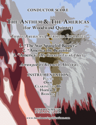 The U.S. National Anthem and The Americas (for Woodwind Quintet) Sheet Music by Various