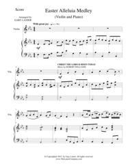 EASTER ALLELUIA MEDLEY (Duet – Violin/Piano) Score and Violin Part Sheet Music by ROBERT WILLIAMS