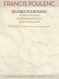 Francis Poulenc - Works for Piano Sheet Music by Francis Poulenc