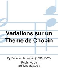 Variations sur un Theme de Chopin Sheet Music by Federico Mompou