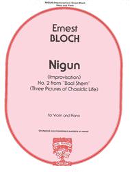 Nigun (Improvisation) No. 2 from 'Baal Shem' Sheet Music by Ernest Bloch