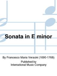 Sonata in E minor Sheet Music by Francesco Maria Veracini