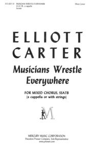 Musicians Wrestle Everywhere Sheet Music by Elliott Carter