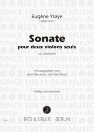 Sonata Sheet Music by Eugene Ysaye