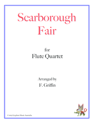 Scarborough Fair for Flute Quartet Sheet Music by Traditional