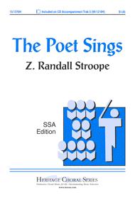 The Poet Sings Sheet Music by Z. Randall Stroope