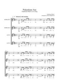 Pokarekare Ana - A Traditional Maori Love song - (ssaa