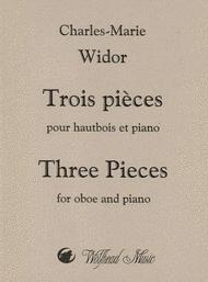 Trois pieces pour hautbois et piano Sheet Music by Charles Marie Widor