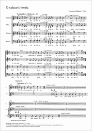 O salutaris hostia Sheet Music by Vytautas Miskinis