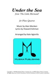 Under The Sea - Flute Quartet Sheet Music by Alan Menken