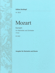 Clarinet Concerto in A major K. 622 Sheet Music by Wolfgang Amadeus Mozart