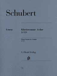 Piano Sonata in A major D 959 Sheet Music by Franz Schubert
