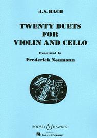 Twenty Duets for Violin and Cello Sheet Music by Johann Sebastian Bach