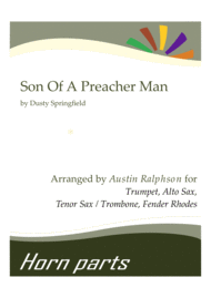 Son Of A Preacher Man - horn parts and Fender Rhodes Sheet Music by Dusty Springfield
