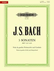 3 Sonatas BWV 1027-1029 Sheet Music by Johann Sebastian Bach