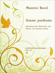 Sonata posthume pour Violoncelle et PIano Sheet Music by Maurice Ravel