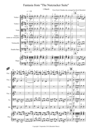 """Fantasia from """"The Nutcracker Suite"""" March for String Orchestra Sheet Music by Peter Ilyich Tchaikovsky"""