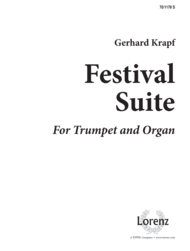 Festival Suite for Trumpet and Organ Sheet Music by Gerhard Krapf