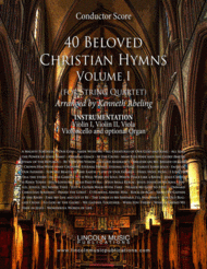 40 Beloved Christian Hymns Volume I (for String Quartet and optional Organ) Sheet Music by Various