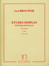Etudes Simples - Volume 4: Nos. 16-20 Sheet Music by Leo Brouwer