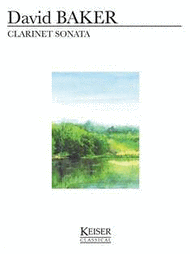 Clarinet Sonata Sheet Music by David Baker