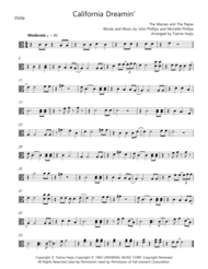 California Dreamin' - String Quartet Sheet Music by The Mamas & The Papas
