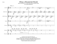 What A Wonderful World for Steel Band Sheet Music by Louis Armstrong