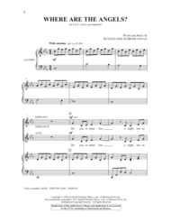 Where Are The Angels Sheet Music by Ruth Elaine Schram