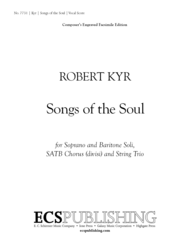Songs of the Soul (Vocal/Choral Score) Sheet Music by Robert Kyr