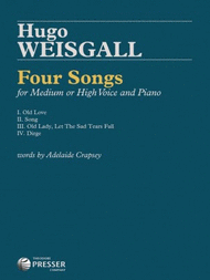 4 Songs Sheet Music by Hugo Weisgall