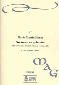 Nocturne en Quintetto Op. 14 Sheet Music by Marie-Martin Marin