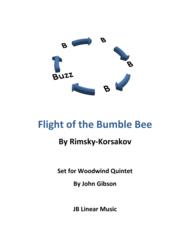 Flight of the Bumble Bee set for Woodwind Quintet Sheet Music by Nikolay Andreyevich Rimsky-Korsakov