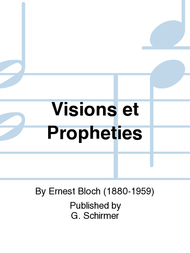 Visions et Propheties Sheet Music by Ernest Bloch