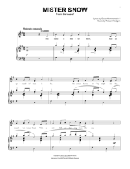 Mister Snow Sheet Music by Richard Rodgers