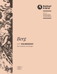 Violin Concerto Sheet Music by Alban Berg