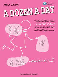 A Dozen a Day Mini Book - Book/Audio Sheet Music by Edna-Mae Burnam