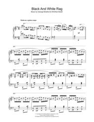 Black And White Rag Sheet Music by George Botsford