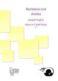 Recitativo and Arietta Sheet Music by Joseph Virgilio
