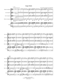 Jingle Bells (Jazzy Style!) for Saxophone Quartet Sheet Music by James Pierpont