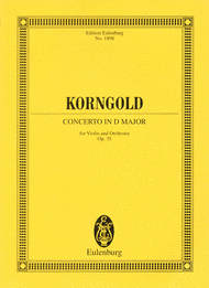 Concerto in D major op. 35 Sheet Music by Erich Wolfgang Korngold