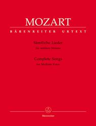 Samtliche Lieder fur mittlere Stimme Sheet Music by Wolfgang Amadeus Mozart