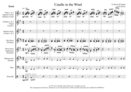 Candle In The Wind - Flexible Wind Ensemble Sheet Music by Elton John