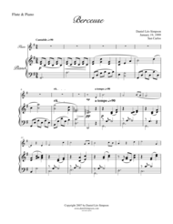 Berceuse for Flute & Piano Sheet Music by Daniel Leo Simpson