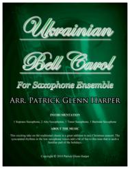 Ukrainian Bell Carol - for Saxophone Ensemble Sheet Music by Leontovych