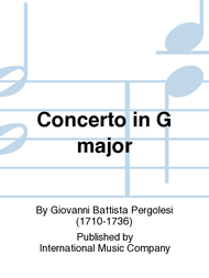 Concerto in G major Sheet Music by Giovanni Battista Pergolesi