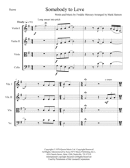 Somebody To Love Sheet Music by Queen